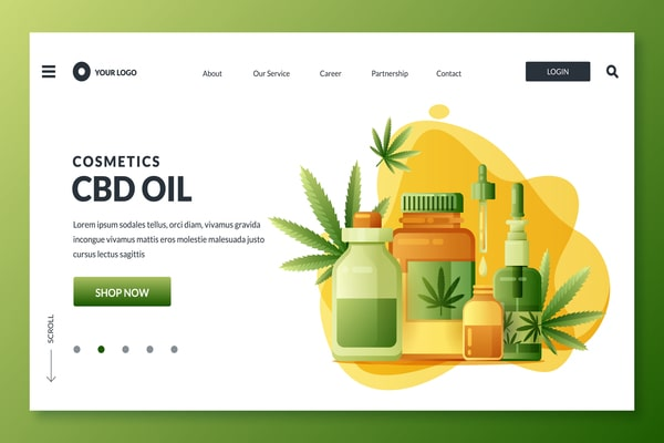 Medical-marijuana-or-cannabis-icons-design-elements-Vector-illustration-for-web-landing-page-online-store-banner-pos